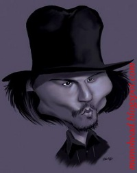Johnny~Depp caricature