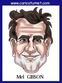 Mel~Gibson caricature