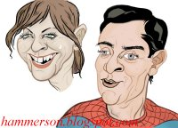Tobey~Maguire caricature