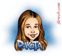 Dakota~Fanning caricature