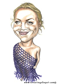 Drew~Barrymore caricature