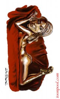 Shirley~Eaton caricature