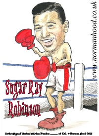 Sugar~Ray~Robinson caricature