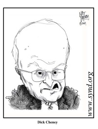 Dick~Cheney caricature