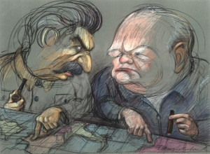 Image result for churchill caricature