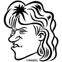 Chris~Evert caricature