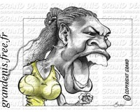 Serena~Williams caricature