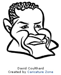 David~Coulthard caricature