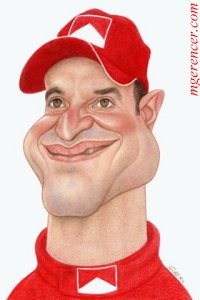 Rubens~Barrichello caricature