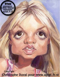 Britney~Spears caricature