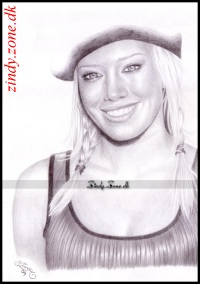 Hilary~Duff caricature