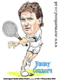Jimmy~Connors caricature