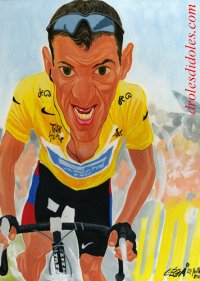 Lance~Armstrong caricature